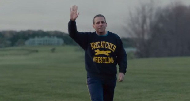 "Steve Carell w filmie ""Foxcatcher"" - fot. screen z Youtube"