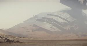 Wrak krążownika w zwiastunie filmu Star Wars The Force Awakens wyreżyserowanego przez JJ Abramsa.