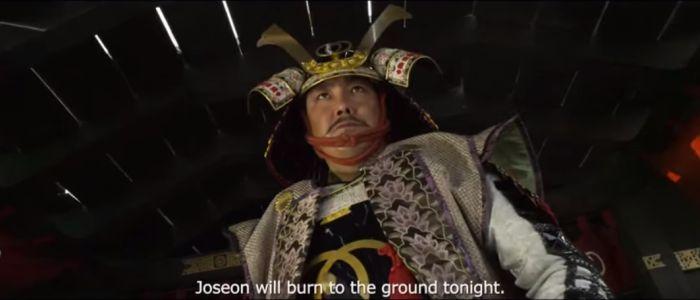 Groźny Japończyk w filmie The Admiral Roaring Currents, recenzja