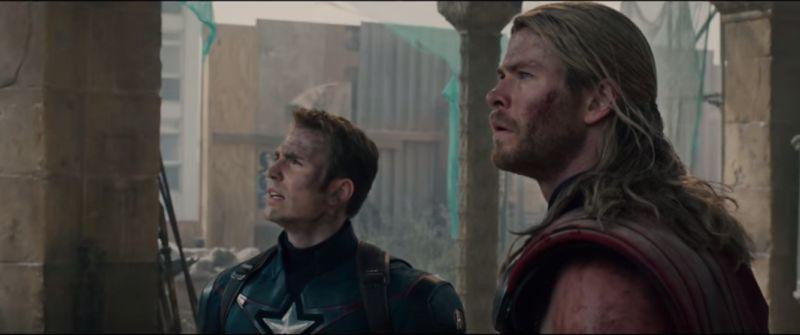 Kapitan Ameryka i Thor w filmie Avengers Czas Ultrona, recenzja quentin.pl