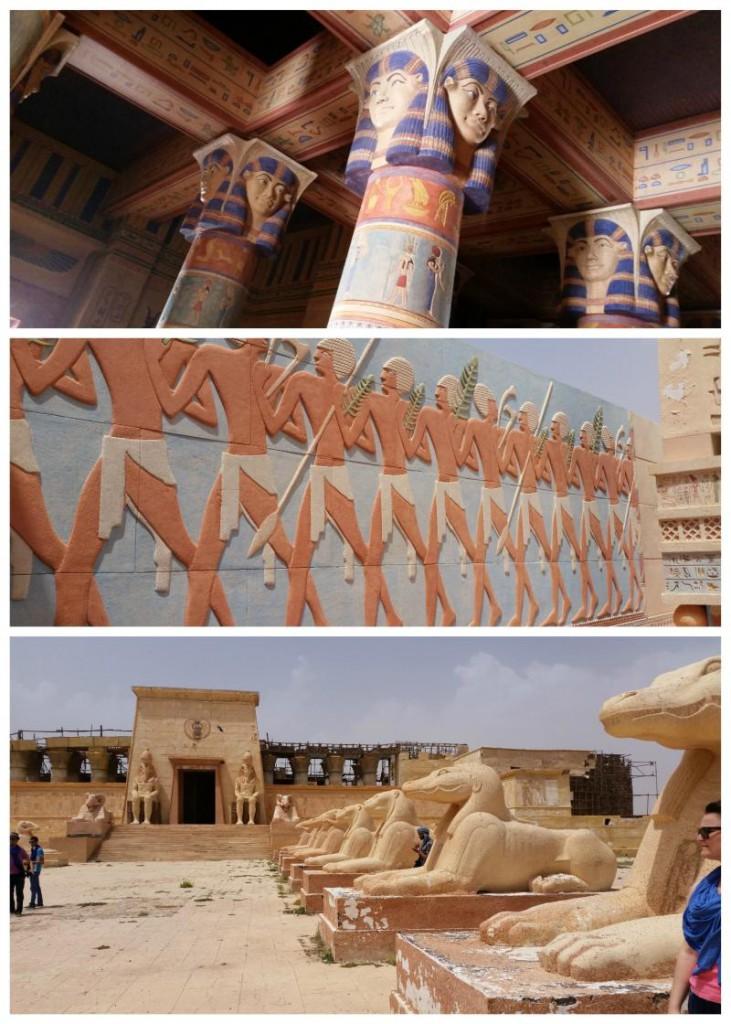Atlas Studio koło Warzazatu, egipskie dekoracje filmowe