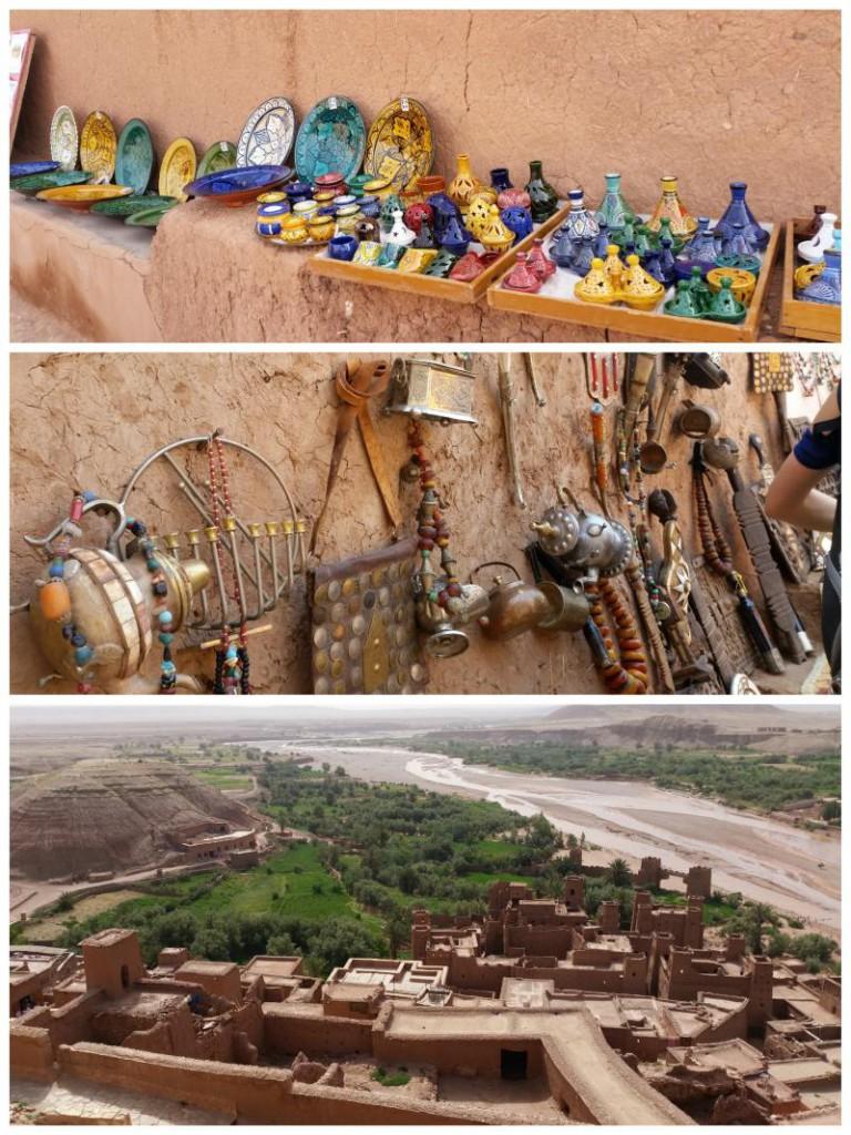 Pamiątki z miasteczka filmowego w Maroku