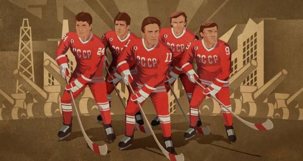 Pierwsza piątka hokejowej reprezentacji ZSRR - Fetisow, Kasatonow, Krutow, Łarionow, Makarow