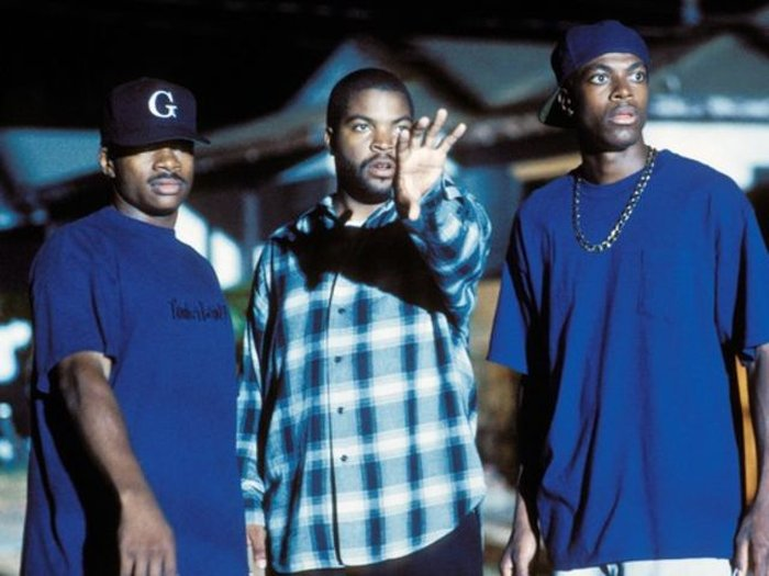 F. Gary Gray, Ice Cube i Chris Tucker on a set of Friday