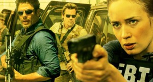 Emily Blunt mierzy z pistoletu w tle Benicio Del Toro i Josh Brolin - recenzja filmu Sicario
