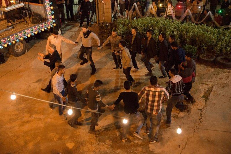 taniec na palestyńskim weselu