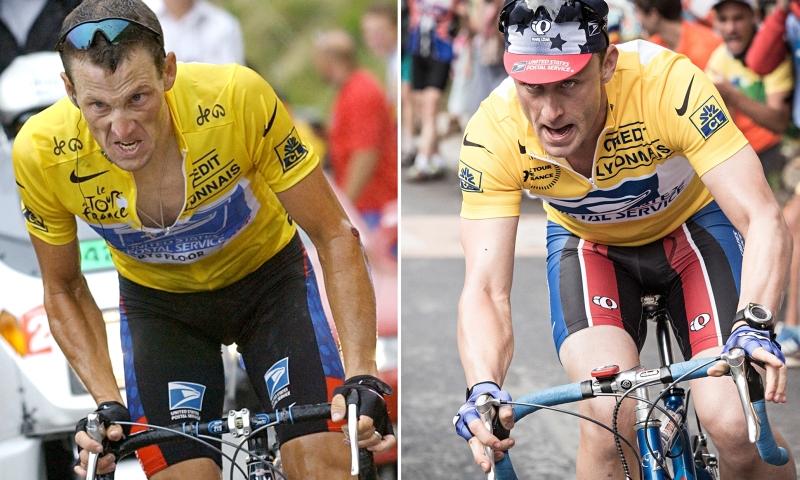 Lance Armstrong na rowerze, Ben Foster na rowerze, recenzja filmu Strategia mistrza