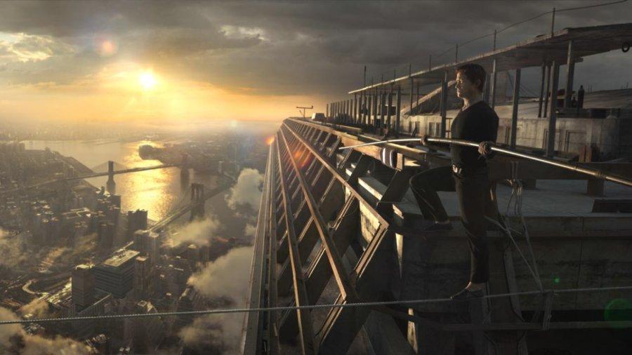 Panorama Nowego Jorku w filmie The Walk. Sięgając chmur