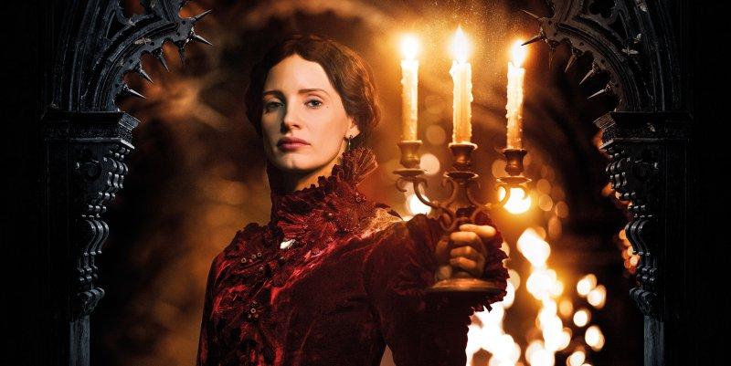 Jessica Chastain with candles. Recenzja filmu Crimson Peak. Wzgórze krwi