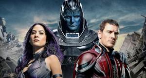 Olivia Munn, Oscar Isaac oraz Michael Fassbender na plakacie filmu X-Men: Apocalypse