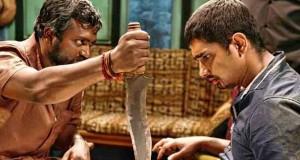 Jigarthanda - Sethu grozi nożem Siddharthowi Sidharthcie, łotewer