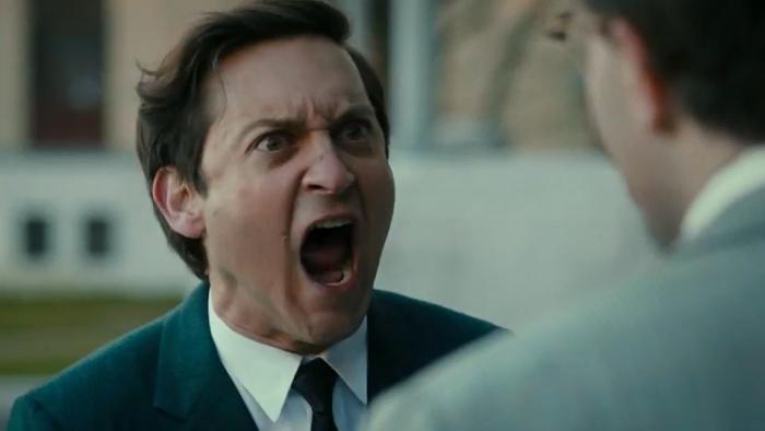 Tobey Maguire wrzeszczy w filmie Pawn Sacrifice