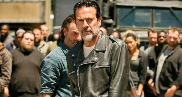 The Walking Dead s7e16 finał sezonu, Negan i Rick.