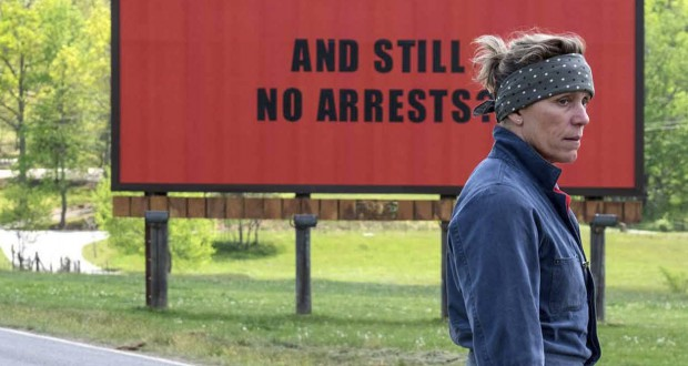 Trzy billboardy za Ebbing, Missouri, Three Billboards Outside Ebbing, Missouri (2017), reż. Martin McDonagh.