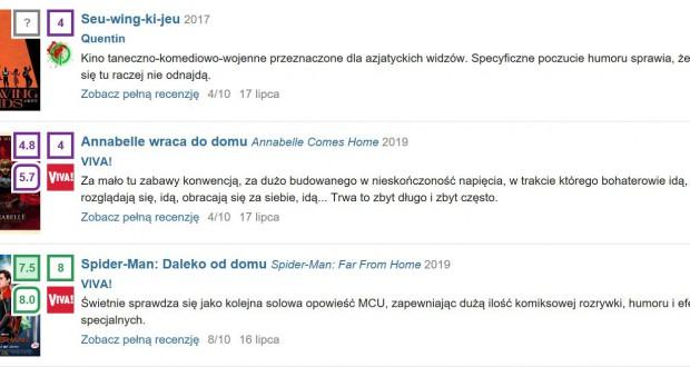Mediakrytyk. Recenzje. Quentin. pl. Łukasz Kaliński.